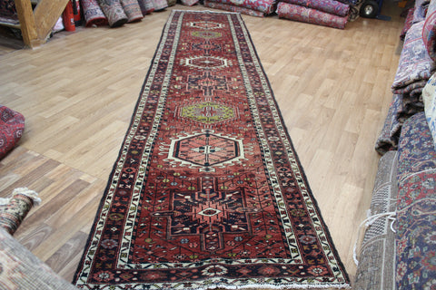 Antique Karaja runner of very good long size with traditional Karaja design 450 x 100 cm
