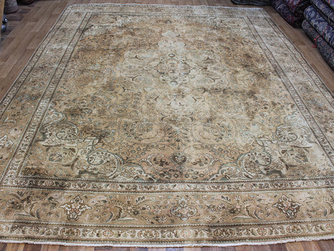 Overdyed Persian Tabriz Wool Carpet 350 x 270 cm