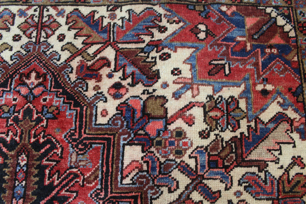 ANTIQUE HERIZ RUG, COUNTRY HOUSE STYLE, SUPERB COLOURS 240 x 145 cm