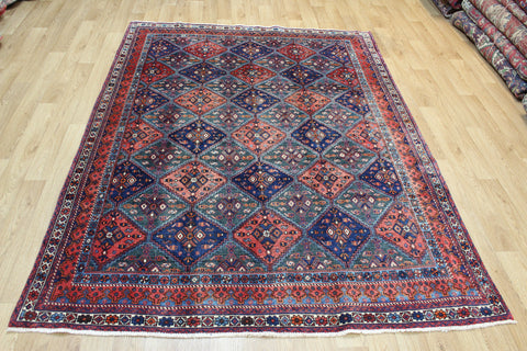 Antique Persian Afshar tribal rug with an interesting all over repeat design 220 x 165 cm