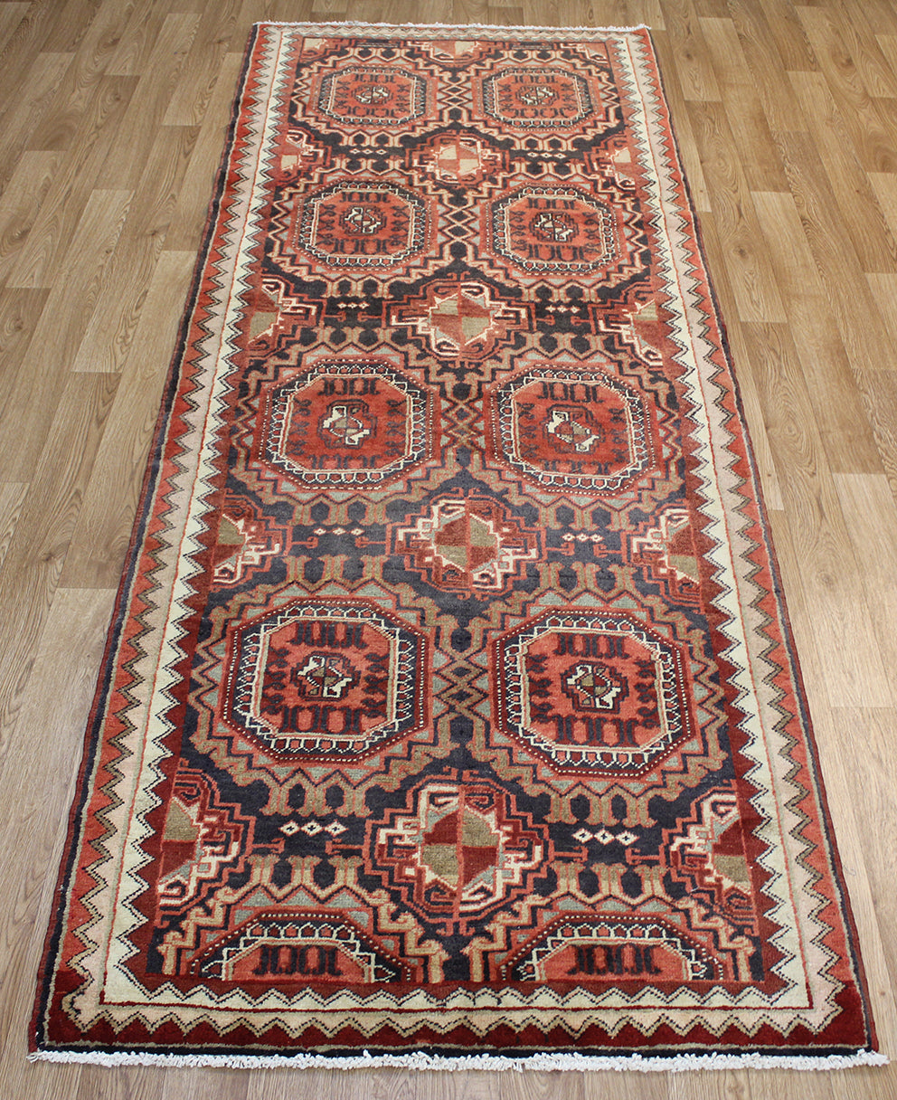 Old Handmade Persian Heriz Runner 300 x 110 cm