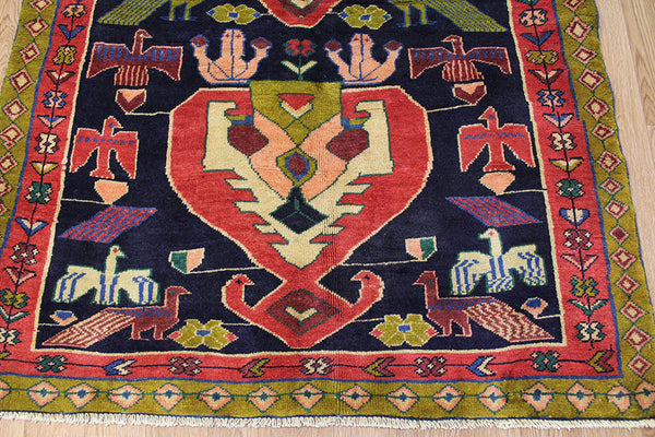 Old Handmade Persian Heriz runner 285 x 120 cm
