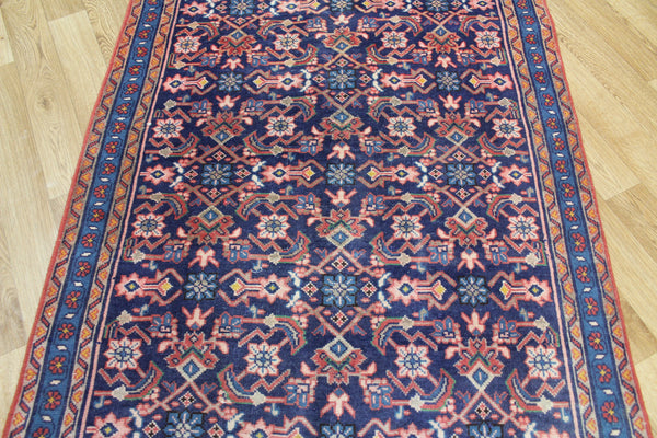 Vintage  Persian Mahal runner of very good long size with Herati design 415 x 107 cm