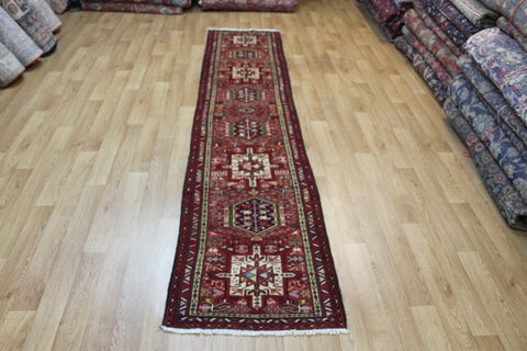 Antique Karaja runner of traditional design 300 x 65 cm