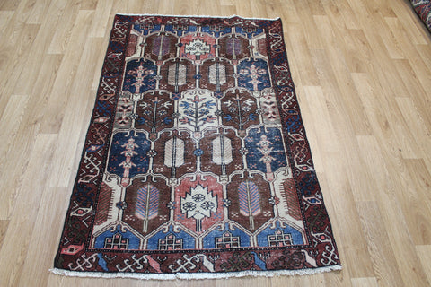Antique Persian Bakhtiari Rug Circa 1900