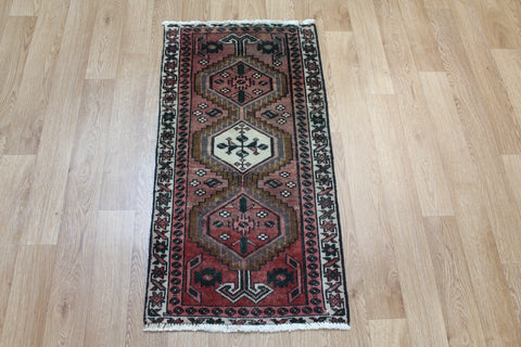 Antique Karaja runner of traditional design 105 x 50 cm
