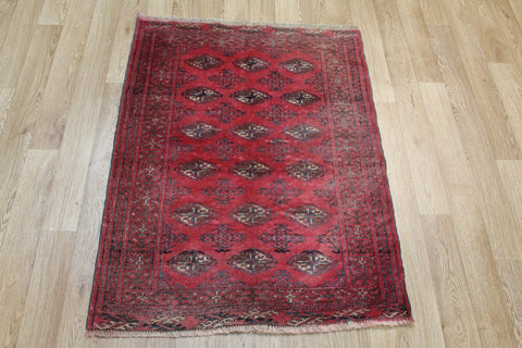 Antique Turkmen tribal rug 112 x 85 cm