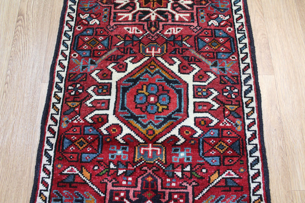 Vintage Karaja runner of traditional design 154 x 55 cm