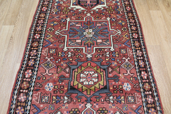 Antique Karaja runner of traditional design 310 x 85 cm