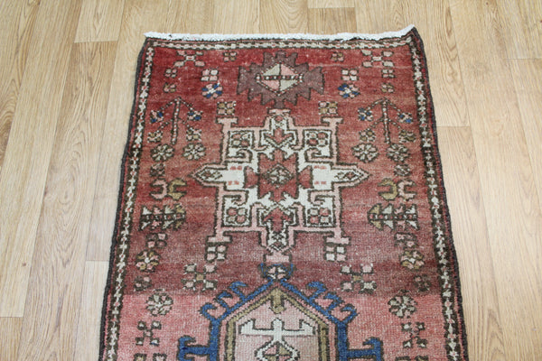 Antique Persian Karaja runner of traditional design 235 x 60 cm