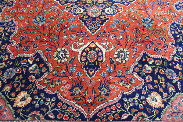 Antique Manchester Kashan Carpet Circa 1890