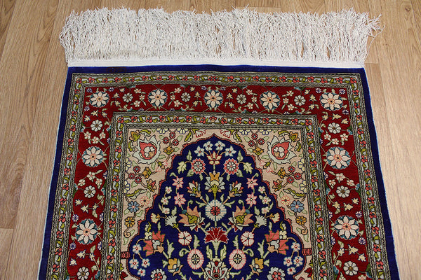 Turkish Hereke Silk Rug 90 x 62 cm