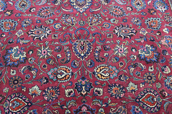 Signed Persian Mashad Carpet 540 x 350 cm