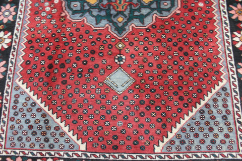 HAND KNOTTED PERSIAN SHIRAZ GABBEH WOOL RUG VERY HARD WEARING 9 x 6'6 FT