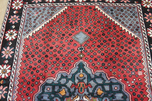 Old Handmade Persian Hamedan Rug, Medallion Design 200 x 130 cm