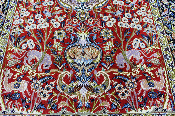 Fine Persian Isfahan Rug Tree of Life design 170 x 112 cm