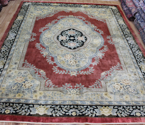 Fine Handmade Chinese Silk Carpet 360 x 270 cm
