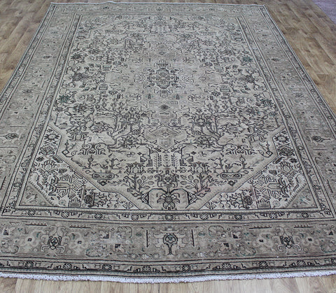 Vintage Persian Tabriz Overdyed Carpet 355 x 250 cm