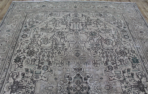 Overdyed Persian Tabriz carpet 390 x 300 cm