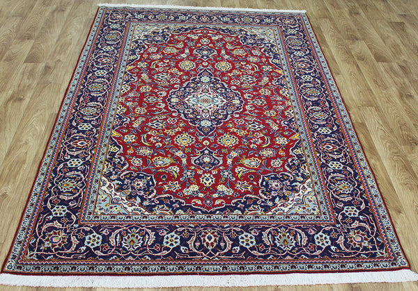 Persian Kashan Rug wool and silk rug 210 x 140 cm