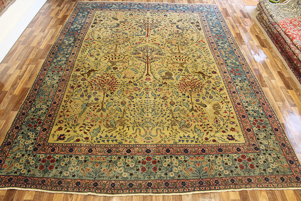 Antique Persian Tabriz carpet Circa 1880