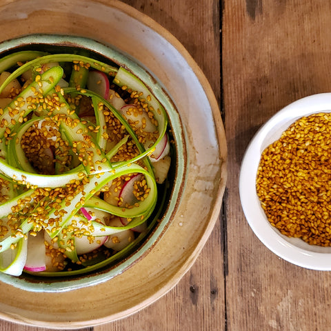 Scallops with Toasted Sesame Seeds