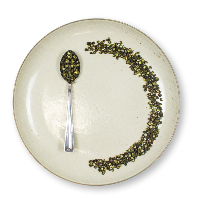 Sichuan Green Peppercorns 330 ml container