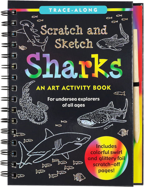 Scratch & Sketch Sharks Trace Along