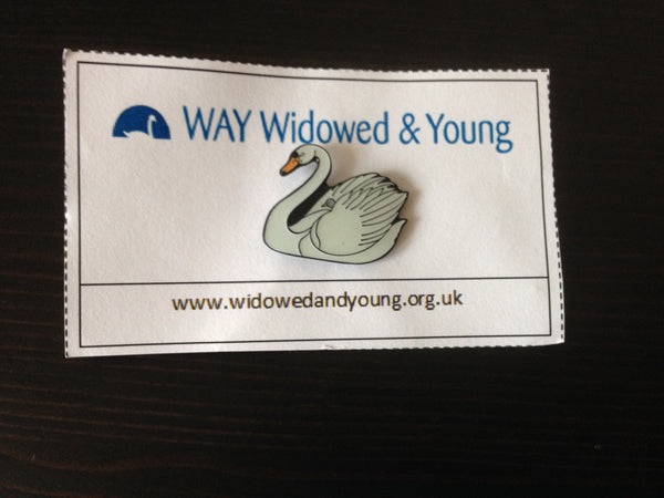 WAY Swan Pin Badge