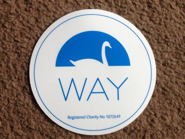 WAY Car Sticker (Round)
