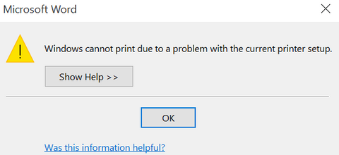 can't the document be printed