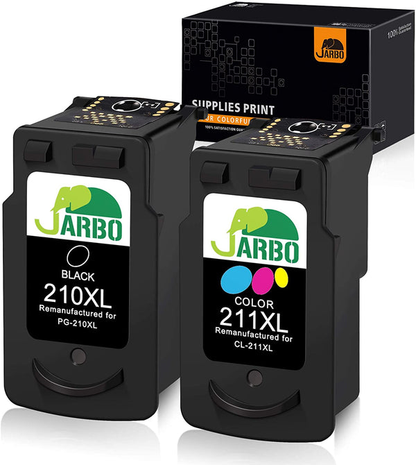 Jarbo Remanufactured 210XL/211XL Ink Cartridges for Canon