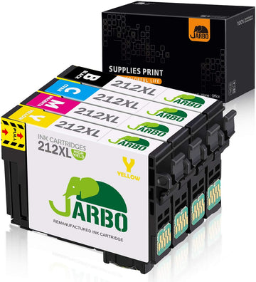 Jarbo Compatible for Epson 212XL Ink Cartridges