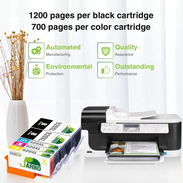 Jarbo Compatible for HP 920XL Ink Cartridges