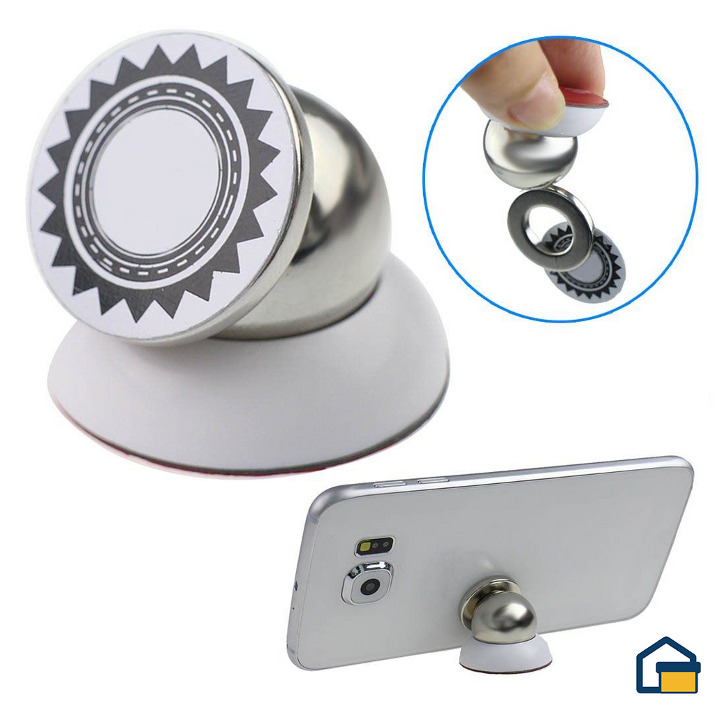 Multifuntional Rotary Mobile Phoneholder (Blanco)
