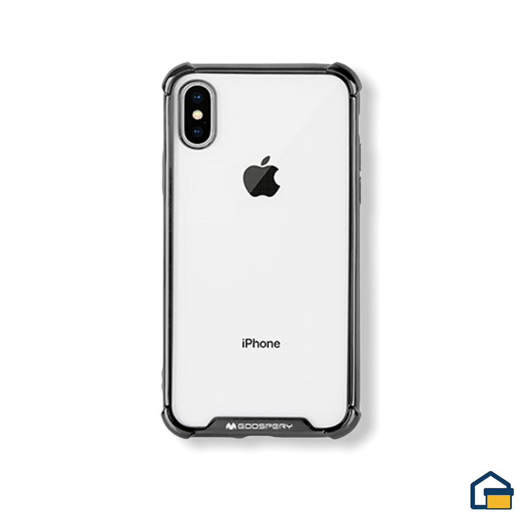 Wonder Protect funda trasnparente para iPhone X/XS (Negro