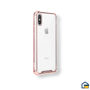 Wonder Protect funda trasnparente para iPhone X/XS (Rosado)