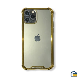 Wonder Protect funda trasnparente para iPhone 11 Pro (Dorado)