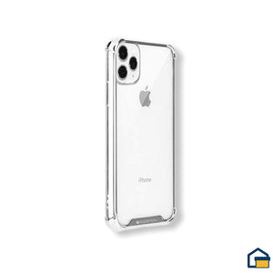 Wonder Protect funda trasnparente para iPhone 11 Pro (Plateado)