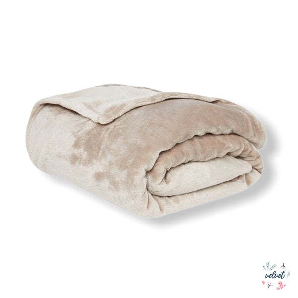 Velvet Full/Queen Blanket - Marfil