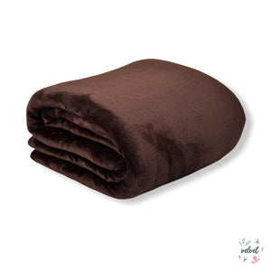 Velvet Full/Queen Blanket - Café