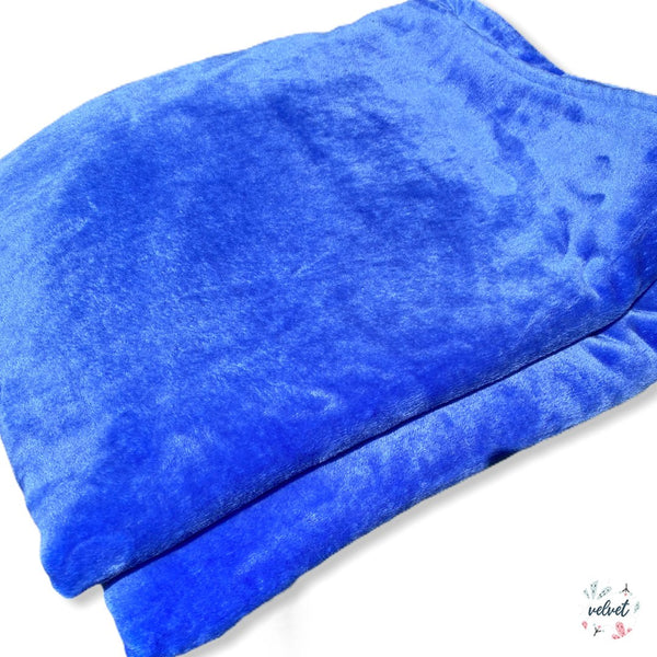 Velvet Full/Queen Blanket - Azul Cielo