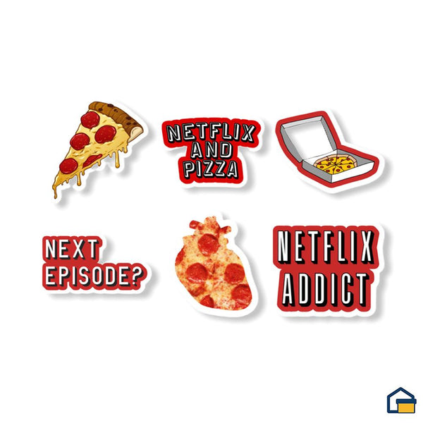 Makideas pack de Stickers de Netflix