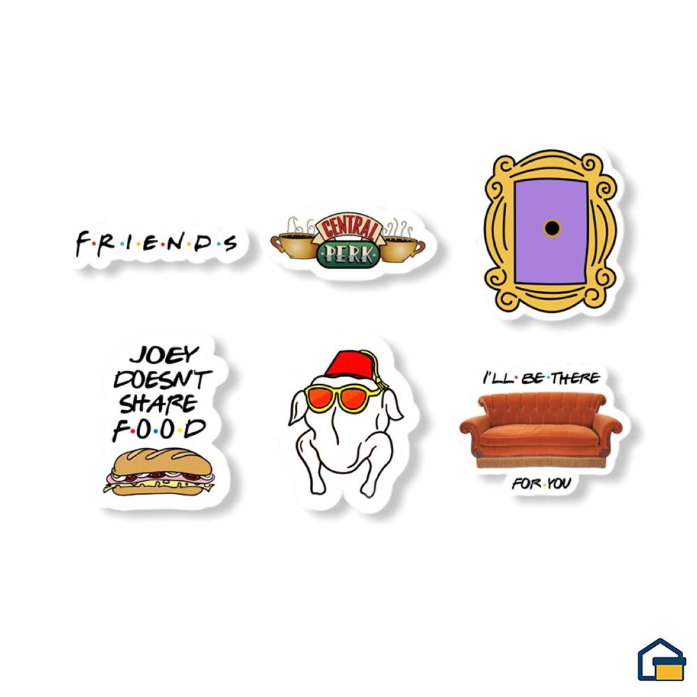 Makideas pack de Stickers de Friends