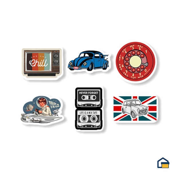 Makideas pack de Stickers de Vintage
