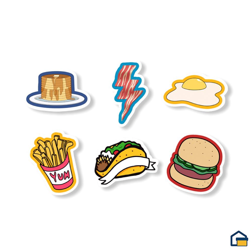Makideas pack de Stickers de Comida