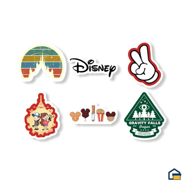 Makideas pack de Stickers de Disney