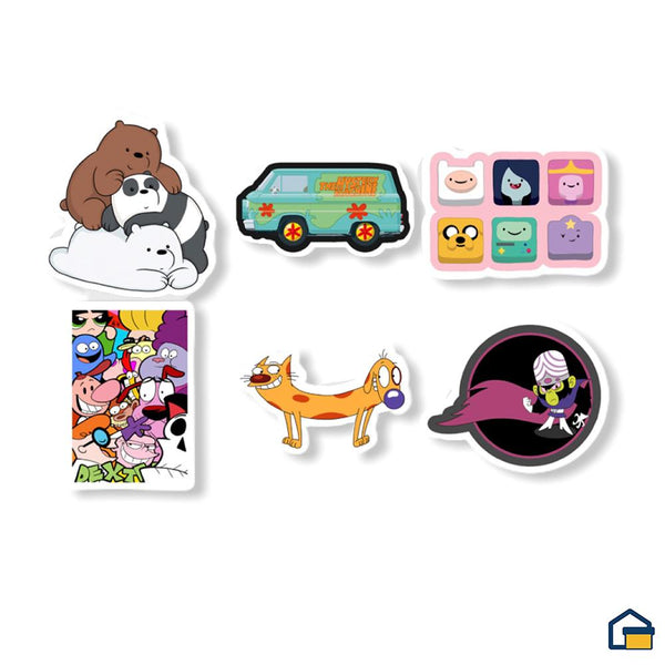 Makideas pack de Stickers de Cartoons I
