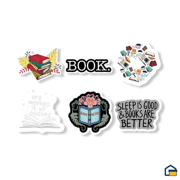 Makideas pack de Stickers de Lectura
