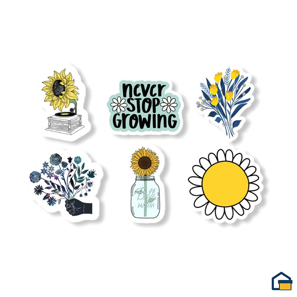 Makideas pack de Stickers de Flores